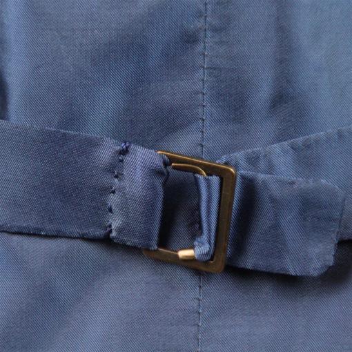 Handgemachte Weste der Sartoria Colazzo, Glencheck blau