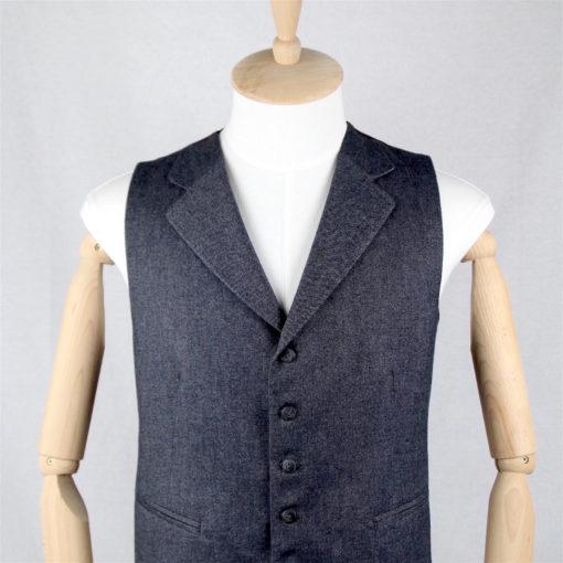 Handgemachte Weste der Sartoria Colazzo, Flannel, grau