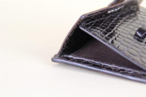 Kreis Ledermanufaktur Biergarten-Portemonnaie Alligator mocca