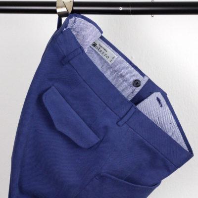 Handgemachte Hose der Sartoria Colazzo, Baumwolle, blau