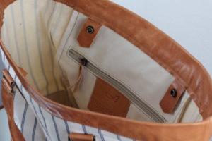 Atelier Dissegna für die SEESTRASSE7 - tote bag aus Leder und Canvas