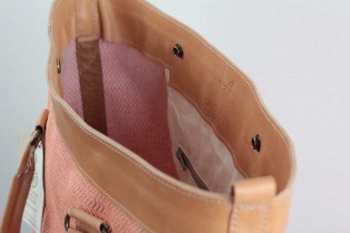 Atelier Dissegna für die SEESTRASSE7 - tote bag aus Leder und Raffia