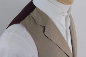SARTORIA COLAZZO handgemachte Weste in beige