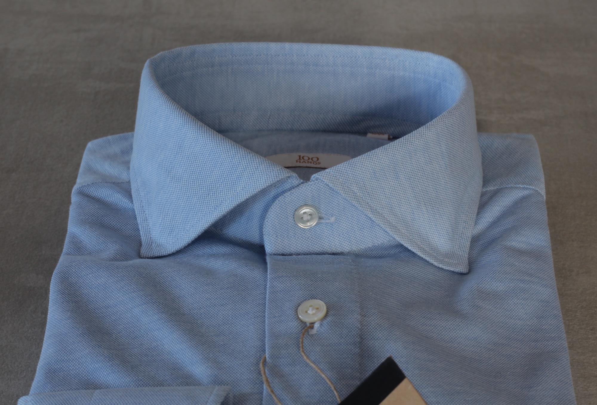 100HANDS handgefertigtes Jersey Langarm-Polohemd | SEESTRASSE7