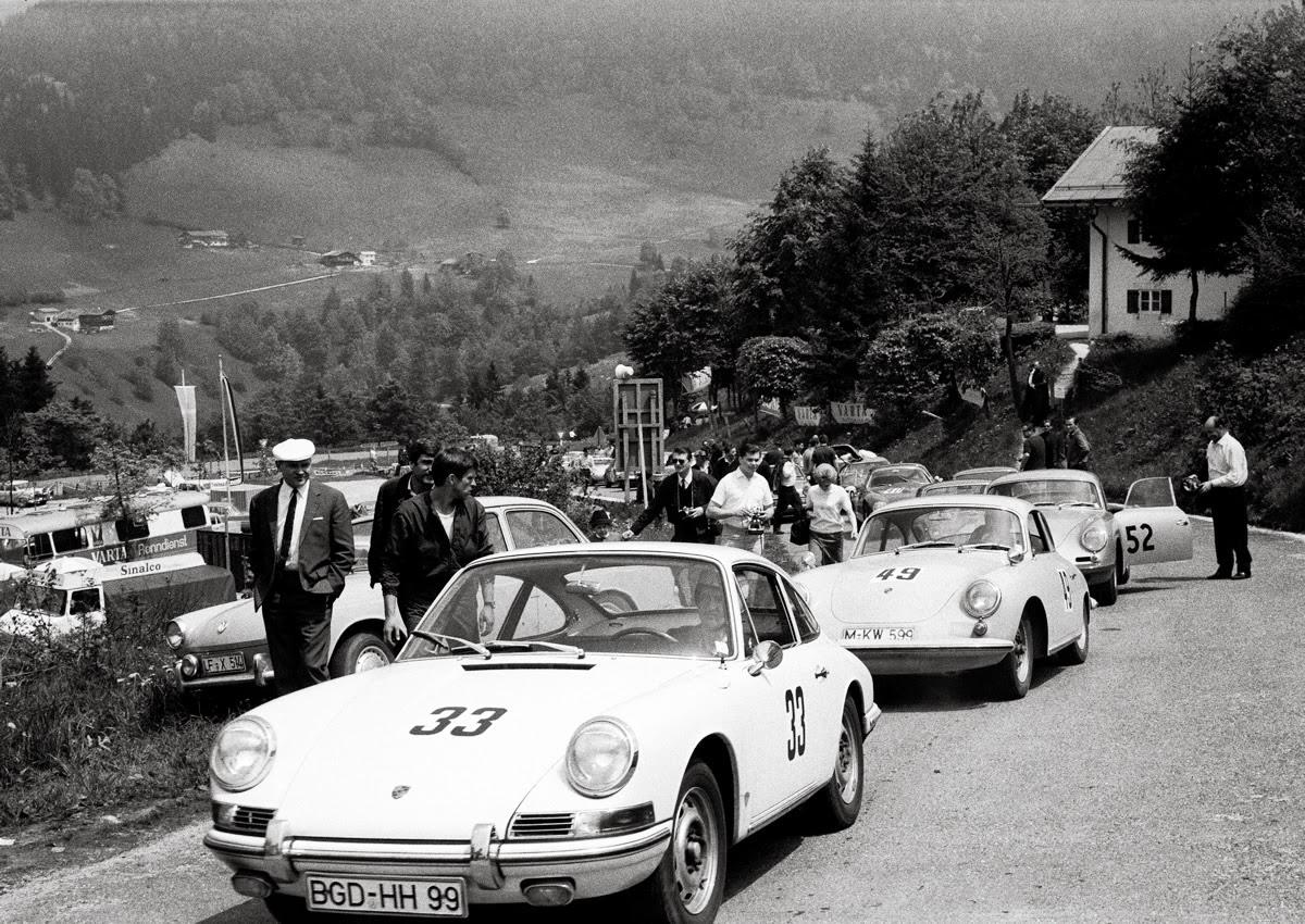 Horst Huber Aus Berchtesgaden 1966 Als Anfhrer Einer Gruppe Porschefahrer